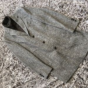 New Hugo Boss jacket Coat herringbone wool 40 NWOT